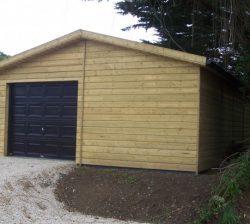Wooden timber garages