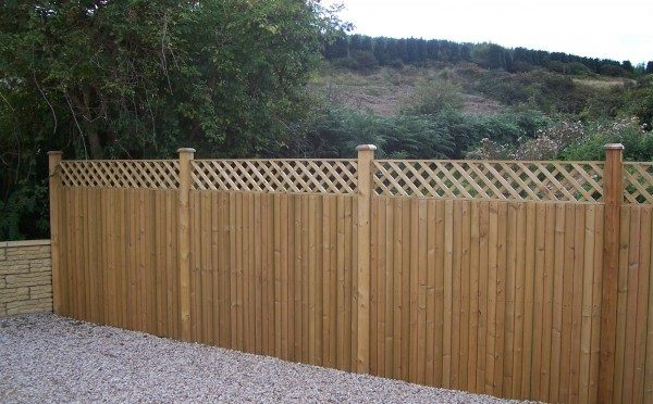 Glan Panel Garden Fencing with Trellis