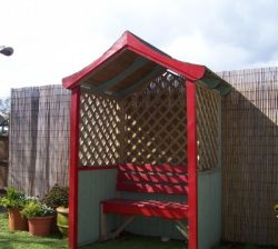 Arbour Painted Red
