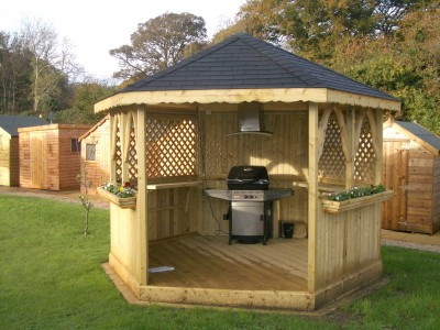 Garden BBQ Gazebo Abwood