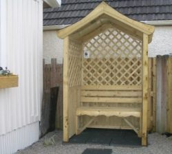 Garden Arbour with seat