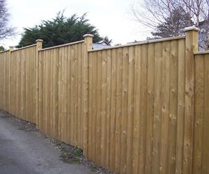 Barrell Board panels Capped Fencing