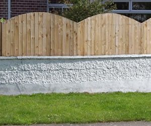 Solid arched cottage fencing