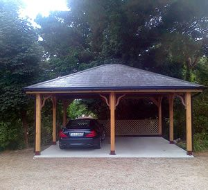 Wooden Carport Construction
