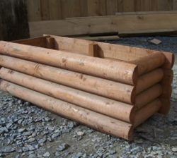 Timber Planter with round timber