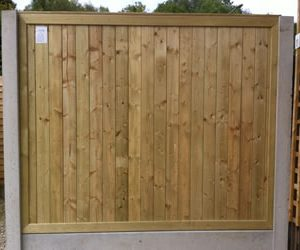Tongue & Grooved Pressure treated timber fencing panel