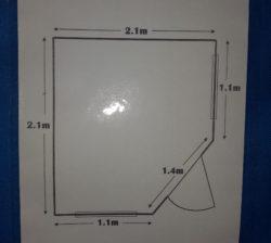 corner shed floor plan