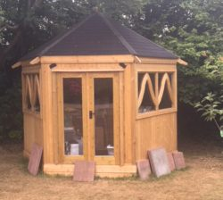 BBQ Gazebo with French Doors